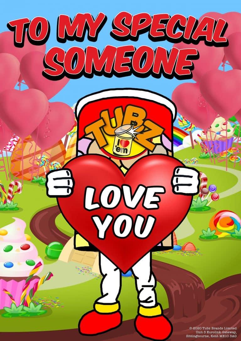 Tubz Valentine Card